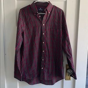 Stafford men's button down regular fit plaid shirt